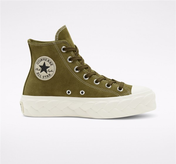 Converse Chuck Taylor All Star Lift Cable High Top - Green Women's Shoe 568688C