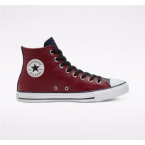 Converse Seasonal Color Leather Chuck Taylor All Star High Top - Red Unisex Shoe 168539C