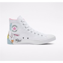 Converse Notebook Print Chuck Taylor All Star High Top - White Unisex Shoe 166562C