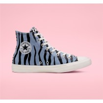 Converse Twisted Archive Prints Chuck Taylor All Star High Top - Blue Unisex Shoe 167629F