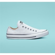 Converse Chuck Taylor All Star Leather Slip Low Top - White Unisex Shoe 164975C