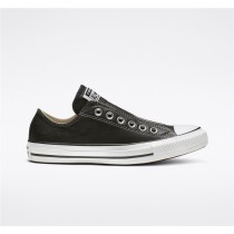Converse Chuck Taylor All Star Leather Slip Low Top - Black Unisex Shoe 164976C