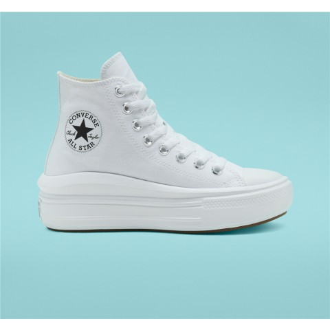 Converse Chuck Taylor All Star Move High Top - White Women's Shoe 568498C
