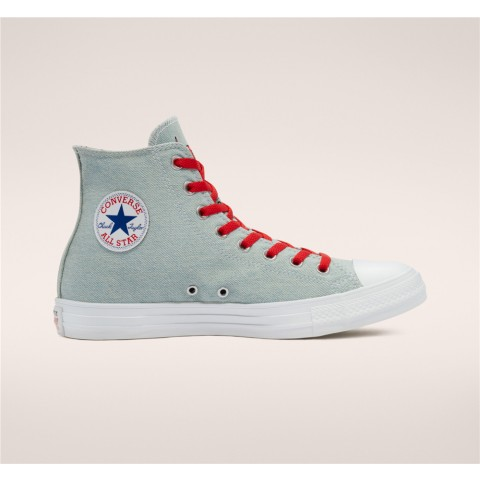 Converse Chicago Bulls X Nba Chuck Taylor All Star High Top - Blue Unisex Shoe 170542C