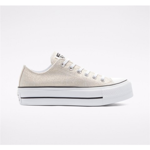 Converse Industrial Glam Platform Chuck Taylor All Star Low Top - Gold Women's Shoe 568630C