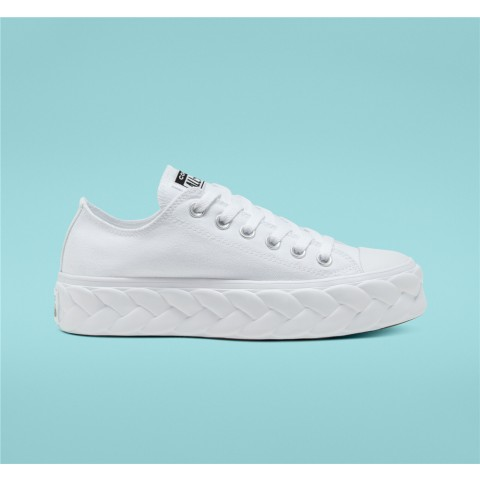 Converse Runway Cable Platform Chuck Taylor All Star Low Top - White Women's Shoe 568895C