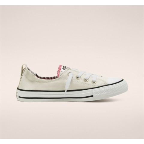 Converse Back To School Chuck Taylor All Star Shoreline Slip Low Top - White Women's Shoe 568536F