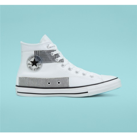 Converse Hacked Fashion Chuck Taylor All Star High Top - White Unisex Shoe 168746C
