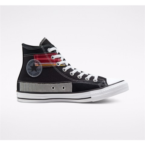 Converse Hacked Fashion Chuck Taylor All Star High Top - Black Unisex Shoe 168745C