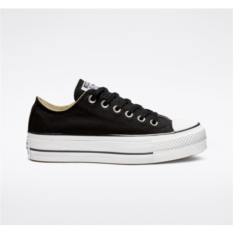 Converse Canvas Platform Chuck Taylor All Star Low Top - Black Women's Shoe 560250C