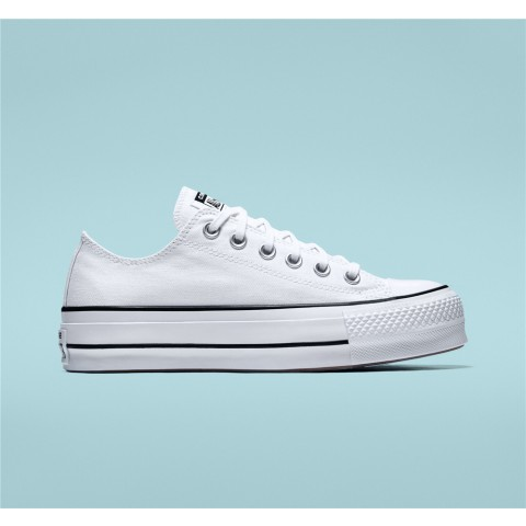 Converse Canvas Platform Chuck Taylor All Star Low Top - White Women's Shoe 560251C