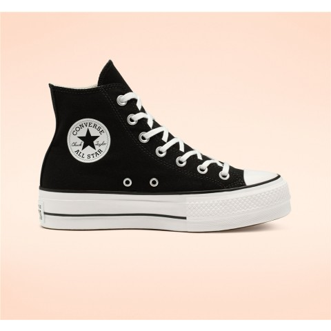 Converse Canvas Platform Chuck Taylor All Star High Top - Black Women's Shoe 560845C