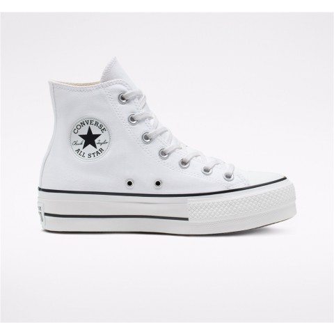 Converse Canvas Platform Chuck Taylor All Star High Top - White Women's Shoe 560846C