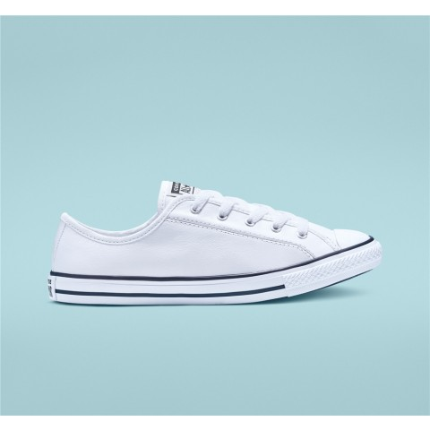 Converse Chuck Taylor All Star Dainty Leather Low Top - White Women's Shoe 564984C