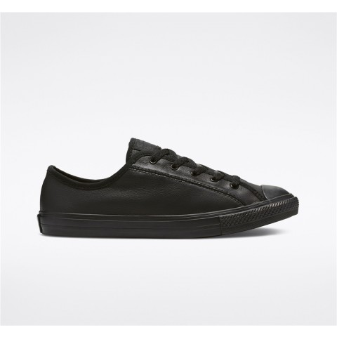 Converse Chuck Taylor All Star Dainty Leather Low Top - Black Women's Shoe 564986C