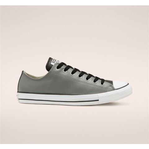 Converse Seasonal Color Leather Chuck Taylor All Star Low Top - Grey Unisex Shoe 168542C