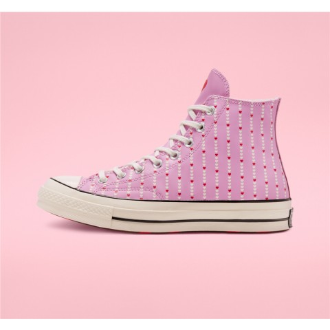Converse Love Fearlessly Chuck 70 High Top - Pink Unisex Shoe 167345C