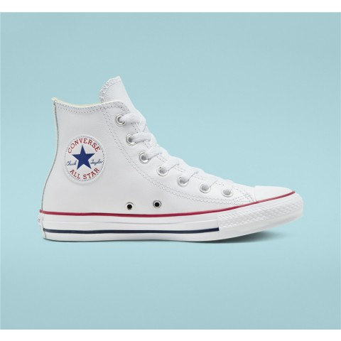 Converse Chuck Taylor All Star Leather High Top - White Unisex Shoe 132169C