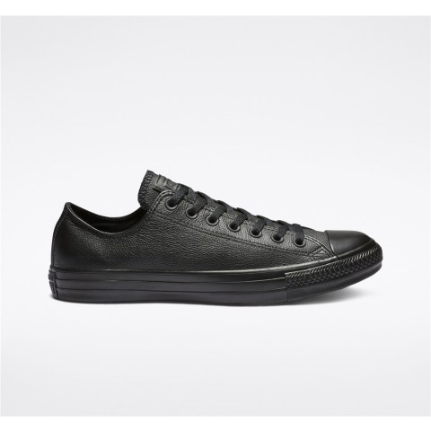 Converse Chuck Taylor All Star Leather Low Top - Black Unisex Shoe 135253C