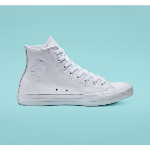 Converse Chuck Taylor All Star Leather High Top - White Unisex Shoe 1T406