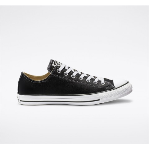 Converse Chuck Taylor All Star Leather Low Top - Black Unisex Shoe 132174C
