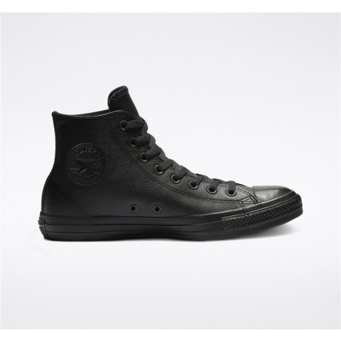 Converse Chuck Taylor All Star Leather High Top - Black Unisex Shoe 135251C