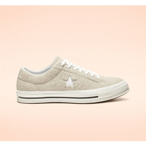 Converse One Star Vintage Suede Low Top - White Unisex Shoe 161577C