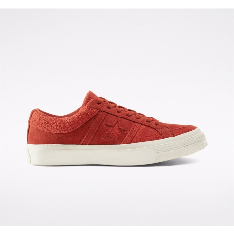 Converse Earth Tone Suede One Star Academy Low Top - Red Unisex Shoe 167765C