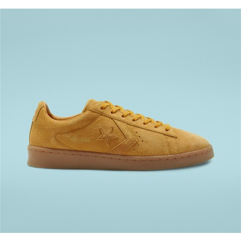 Converse Final Club Pro Leather Low Top - Yellow Unisex Shoe 168599C