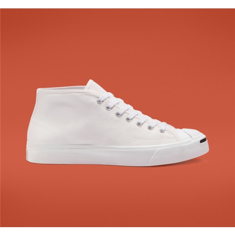 Converse Seasonal Color Twill Jack Purcell Mid - White Unisex Shoe 167805C