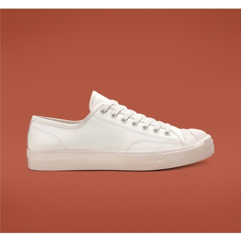 Converse Jack Purcell Leather Low Top - White Unisex Shoe 164225C